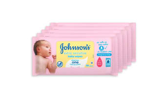 5x Johnson's 56 Infant/Baby Wipes Extra Sensitive Skin Wipe/Fragrance Scent Free