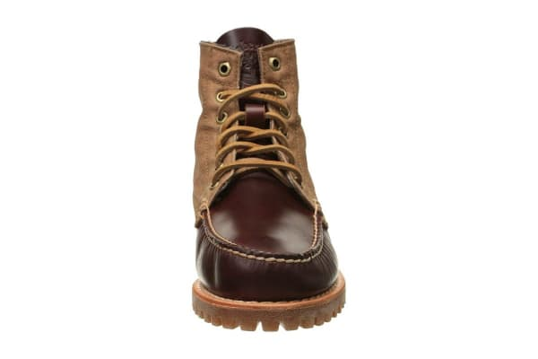 Timberland Men's Authentics Leather Chukka Boots (Brown Full Grain Canvas, Size 11.5 US)