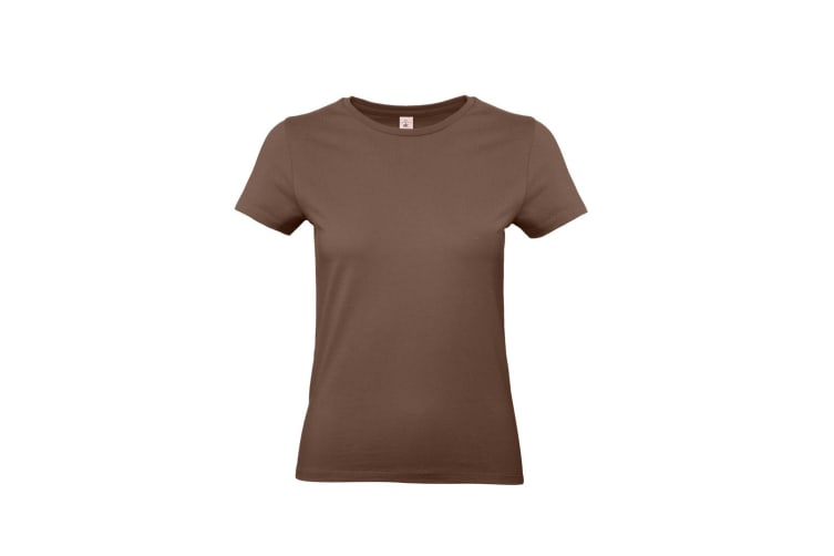 B&C Womens/Ladies #E190 Tee (Chocolate) (M)