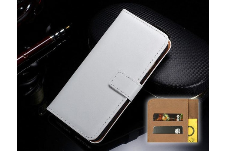 For iPhone XS X Wallet Case Elegant Slim Leather Cover Card Holder White