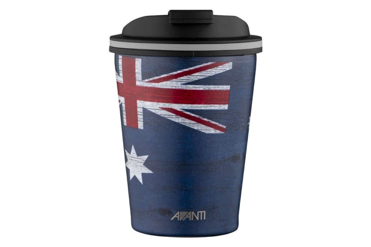 2PK Avanti 280ml Go Cup Stainless Steel Double Wall Vacuum Insulated Aussie Flag