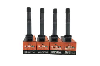 Pack of 4 - SWAN Ignition Coil for Honda Accord, Civic & CRV