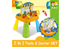 2-in-1 Kids Workshop Tool Doctor Kits Pretend Toy Table Play Set w/ Accessories