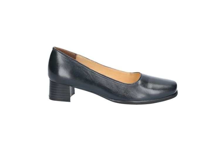 Amblers Walford Ladies Wide Fit Court / Womens Shoes (Navy) (3 UK)