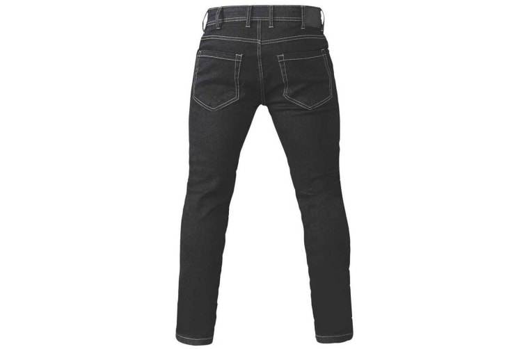 Duke Mens Claude King Size Tapered Fit Stretch Jeans (Black) (46L)