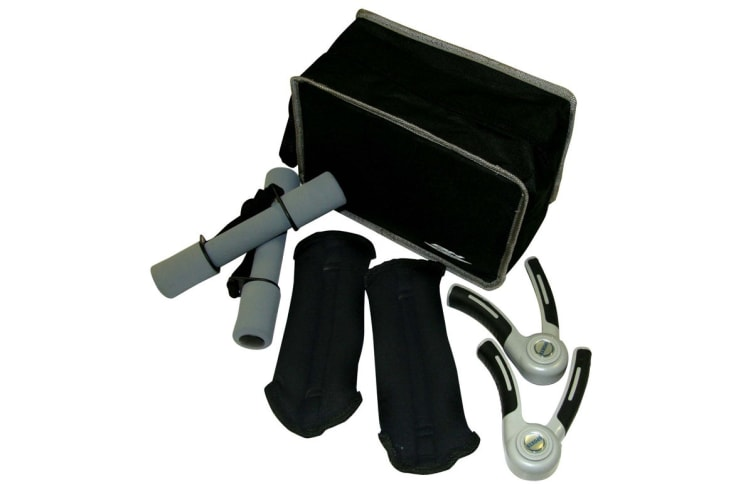 BH Fitness Accessories Kit with Dumbells, Wrist/Ankle Weights, Hand Grips & Carry Bag