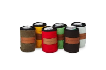 Didgeridoonas Stockman Stubbie Holder 6 Pack  Mixed Colours wool and oilskin