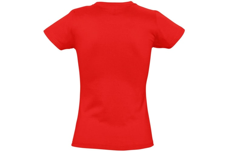 SOLS Womens/Ladies Imperial Heavy Short Sleeve T-Shirt (Red) (S)