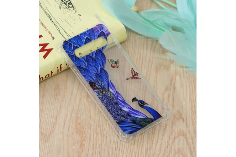 For Samsung Galaxy S10 Case Peacock Pattern Oil Embossed TPU Back Shell