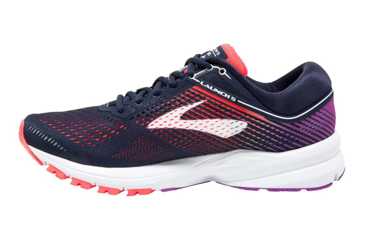 meet 0a302 f9c82 Brooks Women's Launch 5 (Navy/Coral/Purple, Size 6)