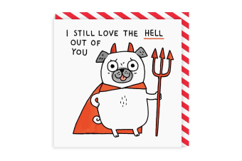 Ohh Deer I Still Love The Hell Out Of You Square Greeting Card (Multicoloured)