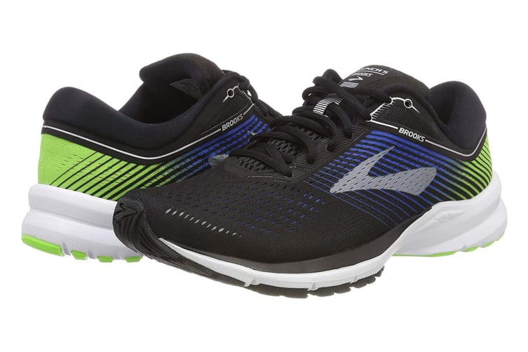 Brooks Men's Launch 5 (Black/Blue/Green, Size 8)