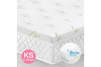 King Single Size 8cm Bamboo Fabric Memory Foam Mattress Topper Protector Fabric Cover