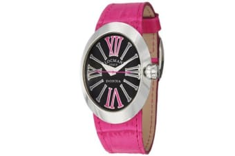 Women's Donna Quartz Black Dial Interchangeable Leather Straps