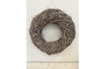Seasonal Glitter Nest Wreath (Brown) (Medium)