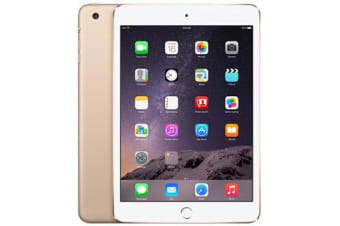 Used as demo Apple iPad Mini 3 16GB Wifi + Cellular Gold (100% GENUINE + AUSTRALIAN WARRANTY)