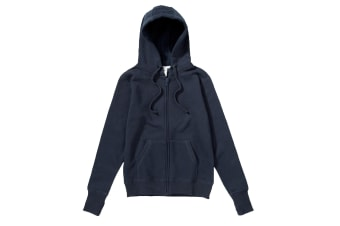 SG Mens Full Zip Urban Hooded Sweatshirt / Hoodie (Navy Blue) (M)