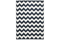 Indoor Outdoor Zig Zag Rug Navy 330x240cm