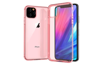 Select Mall Creative Dust-proof Drop Protection Cover Transparent Mobile Phone Case Compatible with Series IPhone 11-Pink Iphone11 Pro Max 6.5 inch