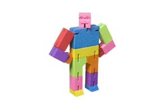 Cubebot Small | Wooden Robot Puzzle - Multi-Colour