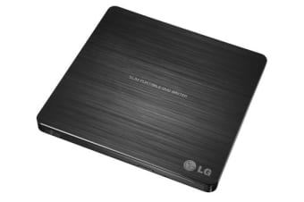 LG SLIM PORTABLE EXTERNAL DVD-RW DRIVE, USB2.0 8X DVD,24X CD WRITE, black