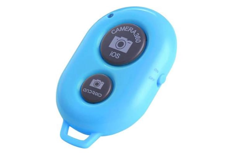 Bluetooth Camera Shutter Remote Control Self Timer Release Ios Android Blue