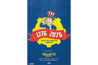 Fallout 76 Tricentennial Poster (Blue) (One Size)