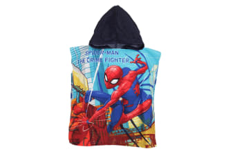 Spider-Man Childrens/Kids The Crime Fighter Towelling Poncho (Blue) (One Size)