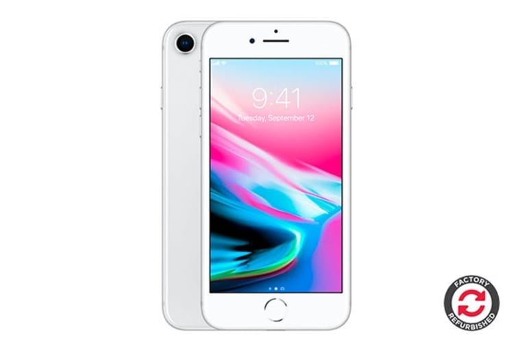 Apple iPhone 8 Refurbished (64GB, Silver) - A Grade