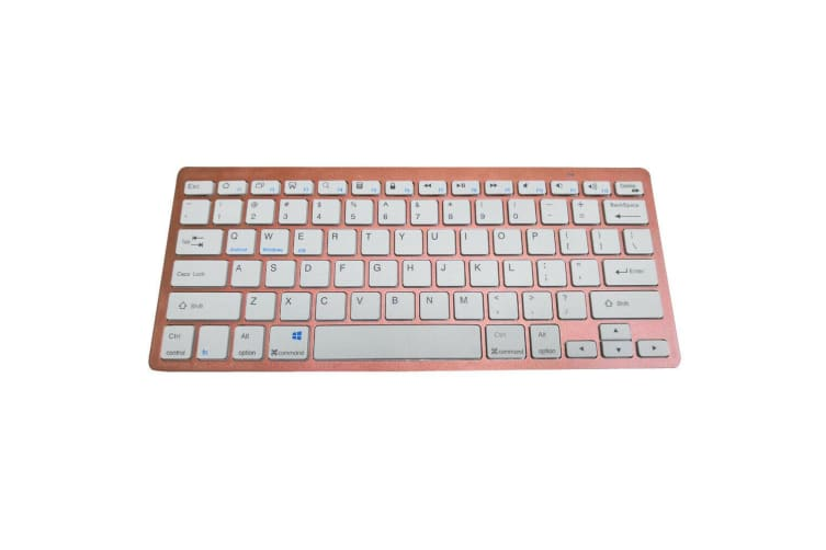 AU For iPad 5th Generation Bluetooth Keyboard Leather Cover Case-Rose Gold