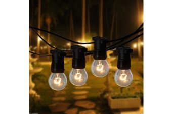20 Metre Clear Festoon / Party / Wedding String Light Kit - Vintage Retro Style