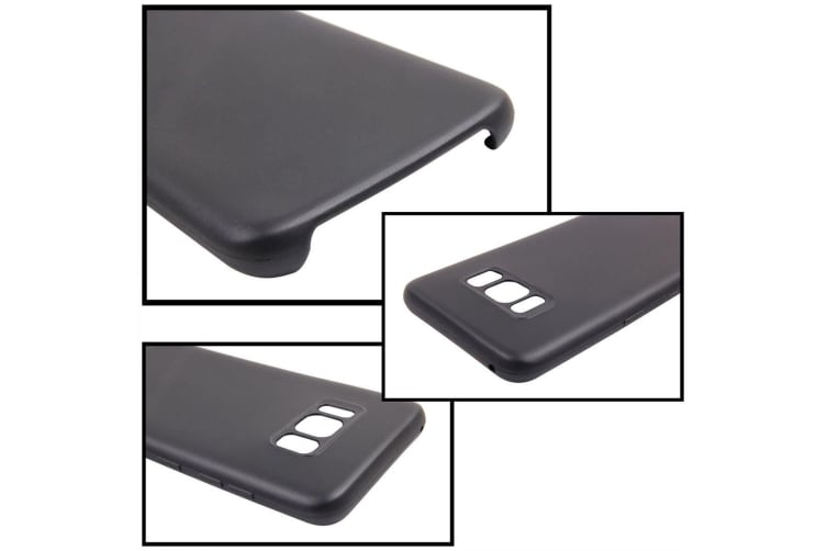 For Samsung Galaxy S8 PLUS Case Smooth Slim Durable Shielding Cover Black