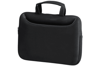 Quadra Neoprene Tablet/Laptop Shuttle Travel Bag (Black) (S)
