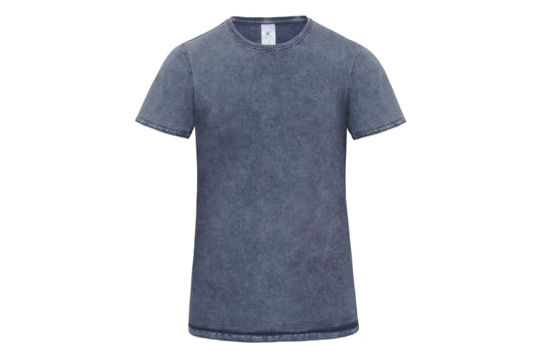 B&C Denim Mens Editing Short Sleeve T-Shirt (Raw Blue) (S)