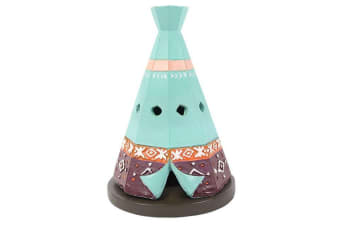 Boho Bandit Teepee Incense Cone Burner (Blue) (One Size)