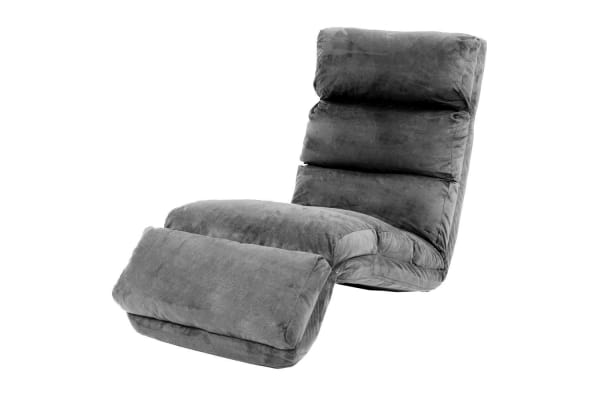 Adjustable Cushioned Floor Lounge Chair 175 x 56 x 20cm - Charcoal