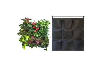 9 Pocket Hanging Wall Planter Flowers/Herb Indoors/Garden/Porch/Patio/Backyard