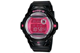 Casio Baby-G Digital Female Black/Pink Waterside Watch BG169R-1B BG-169R-1BDR