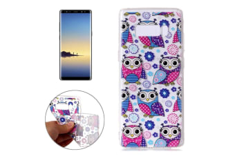 For Samsung Galaxy Note 8 Case Flower Owls Stylish Durable Protective Cover