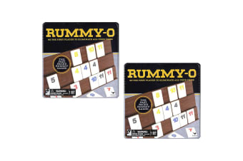 2PK Cardinal Classic Rummy O Board Family Game w/ Tin Storage Kids/Children 5y+