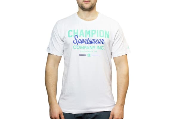Champion Men's VT Sportswear Inc Tee - White (Size L)