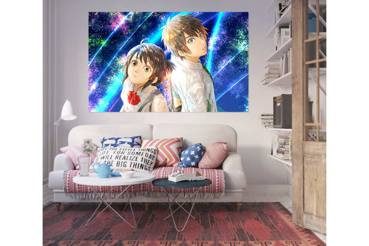 3D Your Name 21 Anime Wall Stickers Self-adhesive Vinyl, 100cm x 60cm(39.3'' x 23.6'') (WxH)