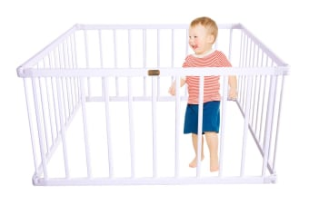 TikkTokk Little Boss Square Playpen (White)