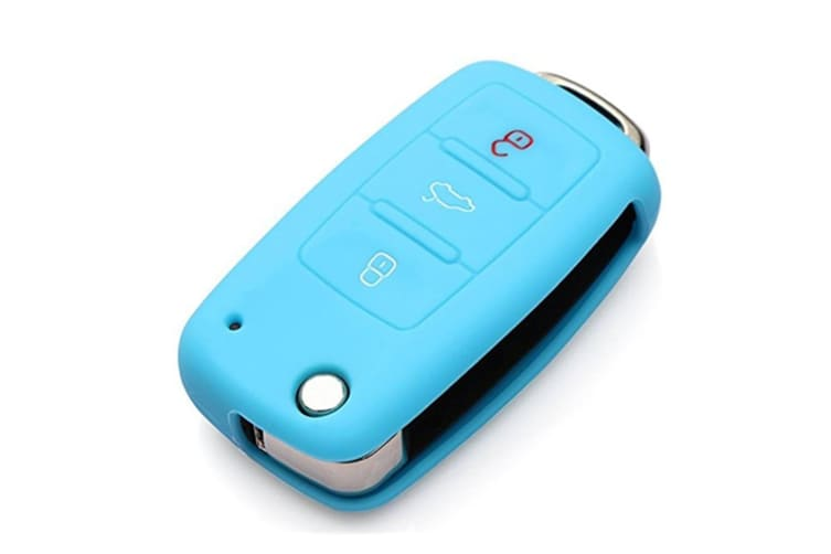 Protective Silicone Key Cover Keyless Entry Remote Fob Shell Blue