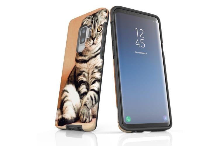 For Samsung Galaxy S9+ Plus Case  Armour Tough Cover  Sitting Cat