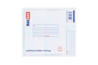 County Stationery Polythene Bubble Envelope Mail Bags (Pack Of 10) (White)