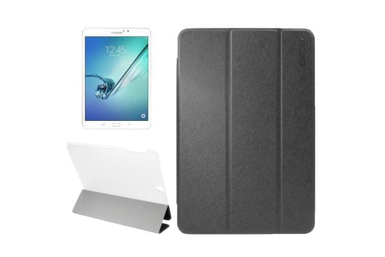 For Samsung Galaxy Tab S3 SM-T810 T815 Case Silk Leather Protective Cover Black