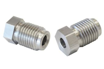 """Aeroflow S/S Inverted Flare Tube Nut 3/16"""" Hard Line To 3/8"""" X 24"""