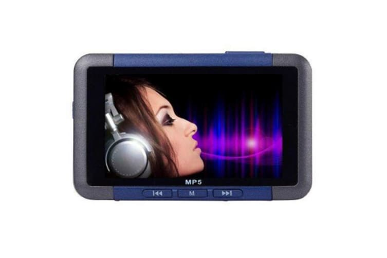 Select Mall 3 Inch Slim LCD Screen Music Player 8GB MP5 With FM Radio Video Movie Media Player MP5-Blue