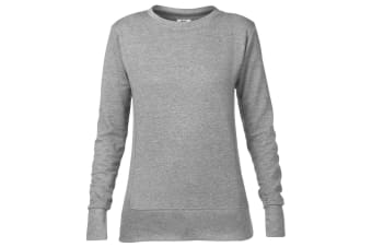 Anvil Womens/Ladies Mid-Scoop French Terry Semi-Fitted Sweatshirt (Heather Grey) (XL)